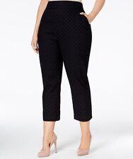Melissa Mccarthy Seven7 Plus Size Eyelet Cropped Cotton Lace Pants Black 20W NWT