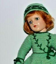 "1940's Stunning Sassy Red Head 14"" Mary Hoyer Skating Doll"