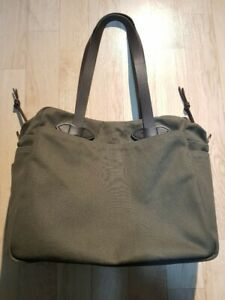 Filson 261 Tote Bag With Zipper Otter Green