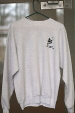 Racquetball Sweater 50% Preshrunk Cotton, Polyester. Mens Size Small. Grey