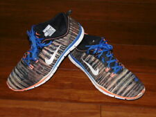 Mens Nike Run Free Tri Fit 4 Running Shoes Size 11 Black Orange Blue See photos