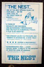 THE NEST Spanish Lolita Original 1980s One Sheet Movie Poster Ana Torrent