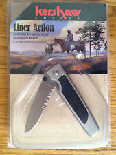 KERSHAW LINER ACTION 2420STX KNIFE PARTIALLY SERRATED BLADE JAPAN DISCONTINUED