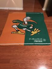 Large University of Miami Hurricanes Banner Miami Herald 59 x 55 inches 12-615D