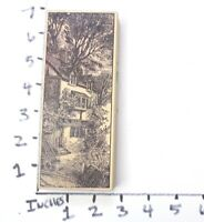 Wooden RUBBER STAMP Block Background For Cards - 2 Story Home Country Cottage