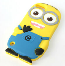 For iPod Touch 6th Generation - CUTE MINION Soft Rubber Silicone Skin Case Cover