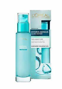 L'Oreal Paris Moisturizer Hydra Genius Hyaluronic Acid + Aloe Liquid Choose Skin