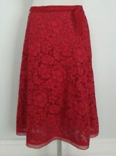PRADA red lace skirt size 44 US 8