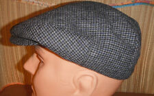 STETSON polyester TWEED houndstooth DRIVING Cap Hat grey small / medium NEW