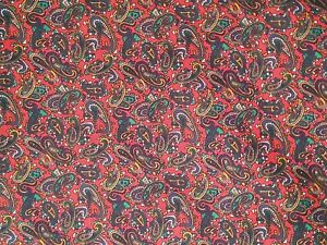 Quilting Fabric - Over 7m Paisley Fabric Remnants