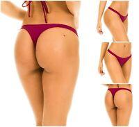 Coqueta Thong Bikini Bottom New Swimsuit Women's Sexy Mini Swimwear Fig TEENY
