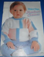 Peter Pan Fondant Cremes Baby Clothing Knitting Pattern Book