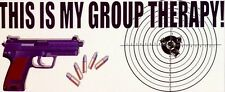Gun Sticker GROUP THERAPY! Rifle Weapons Bumper Window Decal