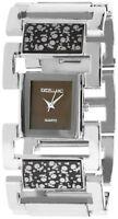 Excellanc Damenuhr Braun Silber Analog Metall Quarz Armbanduhr X152427000028