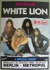White Lion Concert Tour Poster 1989 Big Game