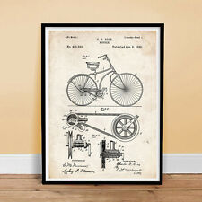 "OLD BICYCLE 1890 PATENT ART POSTER  18X24"" VINTAGE BIKE RICE ART GIFT (unframed)"