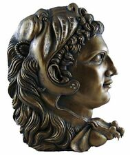 """""""Alexander III the Great"""" wall relief, hand painted pewter"""