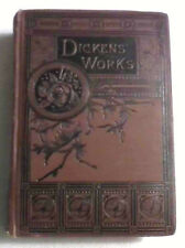 ANTIQUE CHARLES DICKENS OLD CURIOSITY SHOP & REPRINTED PIECES 1885 2 VOLUMES