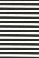 Black and white stripe poly/cotton fabric/Material - 1 full metre