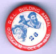 1945 WWII Homefront pin BUILDING Appeal pinback CONSTRUCTION Military VETERANS