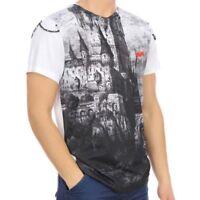 "JC de CASTELBAJAC ""KNIGHTS"" Herren T-Shirt weiss schwarz white black NEU Etikett"