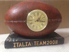 OROLOGIO DA TAVOLO PALLONE RUGBY ITALIA TEAM 2008 FOOTBALL