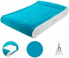 Air Bed Queen Size Double Air Mattress Built-in Pump Elevated Inflatable Pillow