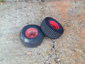 WESTWOOD RIDE ON MOWER  PAIR OF FRONT 15 / 600/ 6 WHEELS AND TYRES