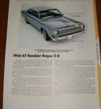 ★★1966-67 RAMBLER ROGUE 290 SPECS INFO PHOTO 66 AMC 1967★★