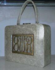 Authentic WILARDY Lucite Handbag ~ MONOGRAM ~B~W~R Pearlized BEAUTY !