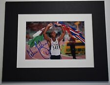 Colin Jackson Signed Autograph 10x8 photo display Olympics Hurdles AFTAL & COA