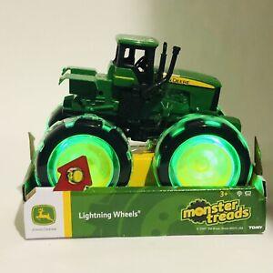 TOMY - John Deere Monster Treads Lightning Wheels Tractor - Green
