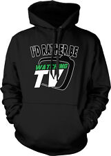 I'd Rather be Watching TV - Couch Potato Boob Tube Funny Hoodie Pullover