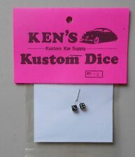 BLACK w WHITE DOTS DICE 1:24 1:25 KEN'S KUSTOM CAR MODEL ACCESSORY D2