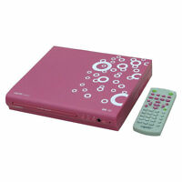 Capello Compact DVD Player with Remote 1080p DivX Xvid Playback Pink CVD2216PNK