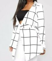 Fashion Nova City Babe Jacket Ivory Size S Box E122