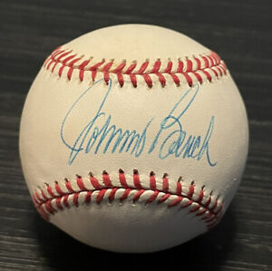 Johnny Bench Autographed Hand Signed Official National League Baseball Reds