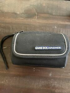 OEM Nintendo Gameboy Advance Case Carry Travel Black Accessory Bag w/ White Trim