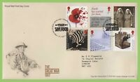 G.B. 2017 The Great War set on Royal Mail First Day Cover, Tallents House