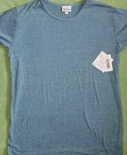 Lularoe Gracie Tunic Shirt Size 14 New NWT Heathered Blue Gray