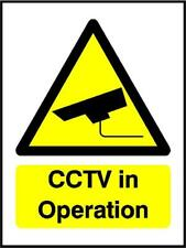 CCTV in Operation, Warning Sign, 3mm composite sign or self adhesive sticker S33
