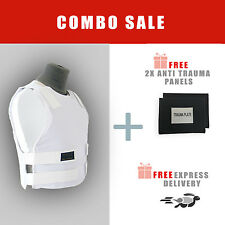 XL Israeli Bullet Proof Vest Level 3A - with 2x Free Anti Trauma Panels VIP