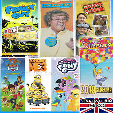 2019 Slim Wall Calendar Simpsons Mrs Brown Only Fools Winnie the Pooh Despicable