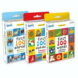 First 100 Matching Card Game - Animals, Words, or Alphabet - Toddler - New