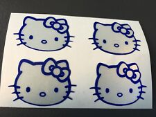 STICKER HELLO KITTY REFLECTIVE MOTORCYCLE HELMET SCOOTER POLY FAIRING grey/blue