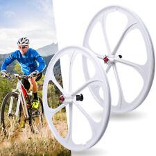 Nice 6-Spoke Gear Disc 7/8/9/10 Speed Mtb Bike Front Rear Mag Wheel Set Wheelset