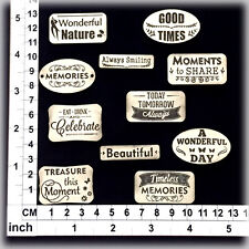 Chipboard Embellishments for Scrapbooking, Cardmaking - Scrap Words 281242bc