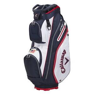 Callaway ORG 14 Cart Golf Bag - White/Navy/Red Flag - New 2021