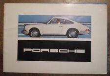 PORSCHE RANGE orig 1967 Full Sales Brochure in ENGLISH  912 911 T L S Targa 911S