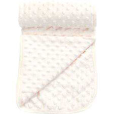 Popcorn Textured/Dimple Effect Pram,Moses Blanket (White)